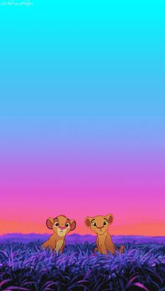 Lion King ♥ Simba and Nala as cubs. The first movie I watched in theatre :)