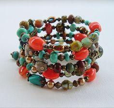 BOHO Style Southwest Bracelet Turquoise Jewelry by BohoStyleMe