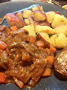 Guinness Beef Stew.  Irish food for St. Patrick's Day! pretty good!  May just be a st pattys tradition, only next time i will add potates and not so much cayenne.