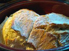 Ψωμί, χωρίς ζύμωμα, στη γάστρα   Συνταγες μαγειρικής