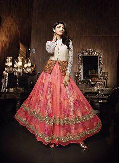 Shilpa Shetty Churidar Style Salwar Kameez in Pink Color - MFGB076801A4H | Indian Trendz