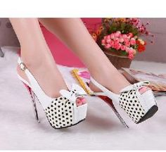 FS 5/5.5/6/6.5/7 BOWKNOT HIGH HEEL PUMPS SHOES-LIMITED FROM US WD61212-5