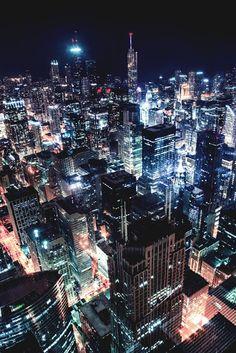 Una mirada a Chicago de noche
