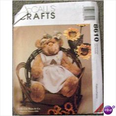 Pattern McCalls Crafts Honey Bear With Clothes #8610 023795861014 on eBid United States