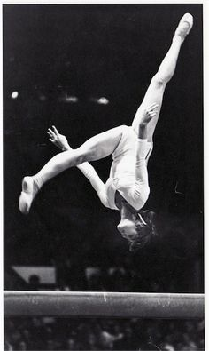 Nadia Comaneci scores perfect 10s at the 1976 Olympics in Montreal.