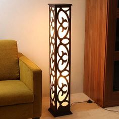Discover thousands of images about Accents Designer Floor Lamp Lamp Design, Lighting Design, Laser Cut Lamps, Diy Lampe, Cnc Cutting Design, 3d Cnc, Bright Homes, Handmade Lamps, Cool Lamps