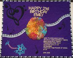 ABUNDANCE Inspiration - Emily loves God, music and studies neuroscience Happy 21st Birthday, Inspiring Things, Neuroscience, Abundance, Ann, Quilts, Music, Inspiration, Musica