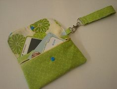 Cell phone zipper pouch