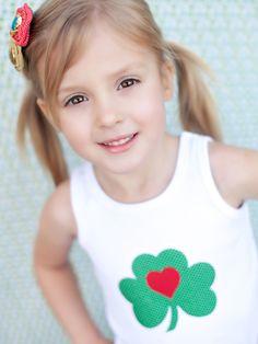 Iron-On Shamrock Applique for St. Patrick's Day. So adorable! --> http://www.hgtv.com/handmade/6-easy-handmade-ideas-for-st-patricks-day/pictures/page-6.html?soc=pinterest