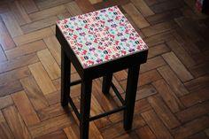 banquinho banco azulejo artesanal arte ceramica tiles handmade decor decoração design interiores casa home pattern pastilhas