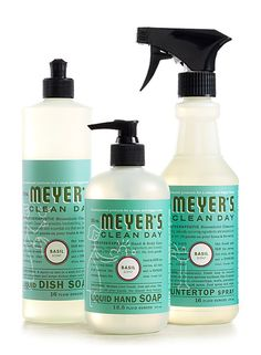 I love the entire line of Mrs. Meyers products. No longer do you have to clean your house and breathe in fumes.