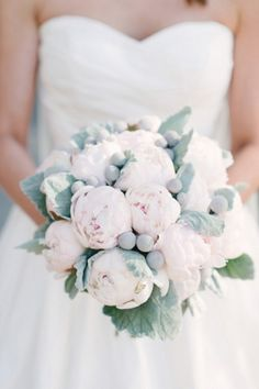 Love this pale pink peony bouquet! Image by http://www.rusticwhitephotography.com, via http://theeverylastdetail.com/classic-pink-gray-georgia-wedding/