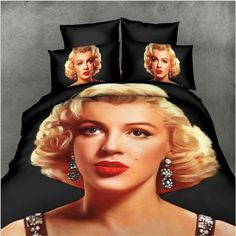 Marilyn Monroe Bedding set Queen size quilt duvet cover bedspread bed sheets linen spread bed in a bag doona bedroom 3d Bedding Sets, Queen Bedding Sets, Grey Bedding, Duvet Sets, Comforter Set, Marilyn Monroe Room, Gray Bed Set, Queen Bed Sheets, Queen Size Duvet Covers