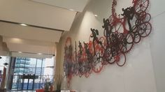 The art of Uri Dushy - Design, planning and installing the big sculpture in the lobby of The Levinstein Towers in TLV.  Metal wall art   music by Bon Iver