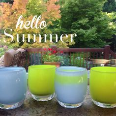 glassybaby | hello Summer #2 | cloud, chartreuse, polo, fearless