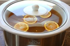 Easy-peasy Crock Pot Hot Spiced Cider Recipe: 1 gallon apple cider 1 cup brown sugar (or a little more to taste) 1 teaspoon whole cloves 2 cinnamon sticks 1 orange sliced Pour apple cider in a crock pot. Add sugar, stir. Put whole cloves and cinnamon in a tea-ball or cheese cloth and place in pot. Add orange slices. Simmer covered on high until hot, stirring occasionally. Once hot, lower heat to low to keep warm. Enjoy the taste and aroma throughout the day!