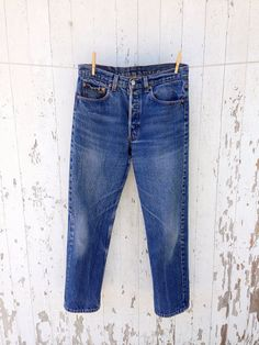 Levis 501 High Waisted Jeans 30 waist Distressed Faded Festival Boho 80s Levi on Etsy, $62.00