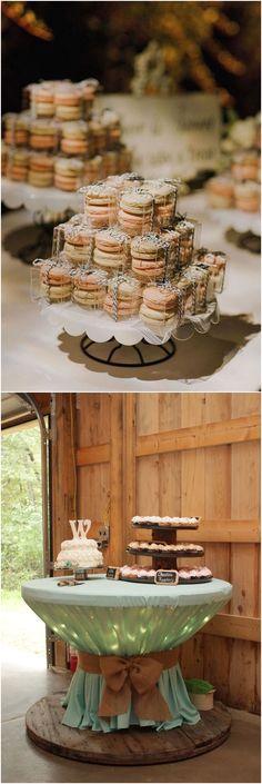 Amazing Wedding Dessert Tables & Displays #rusticwedding #countrywedding #wedding #weddingideas
