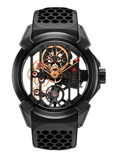Jacob & Co.'s Epic X collection Timepiece with Black Titanium and Rose Gold #JacobArabo #JacobandCo. #Epic