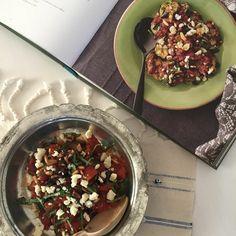 Fesleğen ve beyaz peynir soslu Patlıcan... Cookbookno22 Kitabı'ndan.