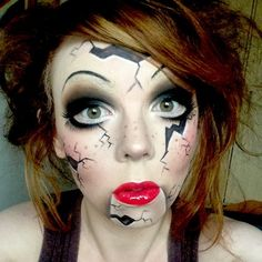 great makeup for creepy doll halloween costume