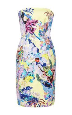 Olympia Printed Strapless Dress by Mary Katrantzou - Moda Operandi