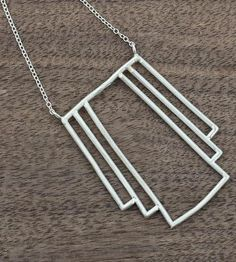 Alignment Sterling Silver Necklace by Megan Rider Jewelry & Design on Scoutmob Shoppe