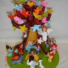 Presépio na árvore
