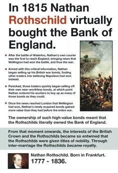 Reality of rothschild Familie Rothschild, Mafia, Rothschild Family, Out Of Touch, Conspiracy Theories, History Facts, History Timeline, Fun Facts, Knowledge