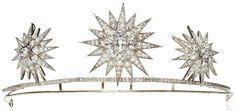 Wurttemberg Starburst Tiara; Worn at: House of Bourbon 425th Anniversary Banquet --- 2015 Vienna Opera Ball --- 2015 Belgian-Wurttemberg State Visit State Banquet --- 2016 Vienna Opera Ball --- Wedding Ball for Luis and Amelie --- 2016 French National Day State Banquet --- 2017 Vienna Opera Ball