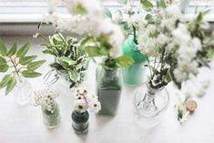 Inspiratie - Bloemen In Geverfde Flesjes