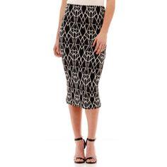 f7331ff606e Bisou Bisou® Print Midi Skirt found at  JCPenney Midi Skirt