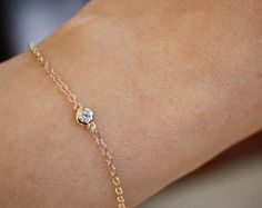 Diamond by the Yard Bracelet in 14K Solid Gold