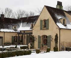 """Not quite a """"cottage"""". Not quite france. Connecticut.  jack Arnold french country designed, home."""
