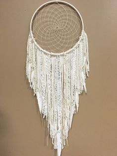 Dream Catcher, Large Dreamcatcher, Lace Dreamcatcher, Boho Home Decor, Boho Decor, Home Decor, Hippie Decor, Gypsy Decor, Wall Hanging