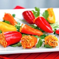 Stuff these peppers with whatever you like!!! Easy & Good!