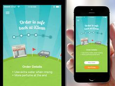 a nice splash screen and UI for the iClean app
