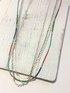 Multi-Strand Necklace - Multi Chain Necklace - Small Glass Bead Necklace - Faceted Bead Necklace - Silver Chain Necklace - Handmade - Gift by LemonBasket on Etsy https://www.etsy.com/listing/515566902/multi-strand-necklace-multi-chain