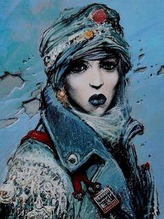 Enki Bilal Bd, Heavy Metal Comic, 3 Piece Canvas Art, Street Art, Anime Art Fantasy, Pop Art Design, Bd Comics, Portraits, Oeuvre D'art