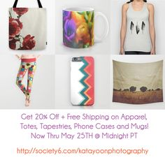 Get 20% Off + Free Shipping on Apparel, Totes, Tapestries, Phone Cases and Mugs! Now Thru May 25TH @Midnight PT http://society6.com/katayoonphotography #sale #specialoffer #freeshipping #fashion #apparel #tee #leggings #top #phonecase #cover #accessories #clothing #tapestries #decor #homedecor #decorideas #wallart #art #artsy #trend #trendy #classy #elegant #beautiful #tote #bags #gift #giftideas #giftforher #giftforhim #mug #kitchen #coffeetime #teatime #tealovers #coffeelovers #shopping…