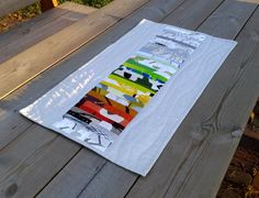 Table runner made from Marimekko fabric modern by NordicCrafter
