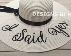 Personalized hat BRIDE Personalized straw hat Monogrammed