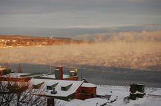 Utsikt över Vättern i vintertid