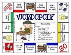 This is a fun way to practice adjectives!In this game, students practice identifying adjectives as they read sentences and move around the game... WORD WORK IDEA