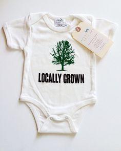 Locally Grown Tree Baby, Boy, Girl, Unisex, Infant, Toddler, Newborn, Organic, Bodysuit, Outfit, One Piece, Onesie | Urban Baby Co.