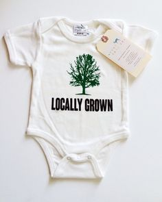Locally Grown Tree Baby, Boy, Girl, Unisex, Infant, Toddler, Newborn, Organic, Bodysuit, Outfit, One Piece, Onesie | Urban Baby Co.