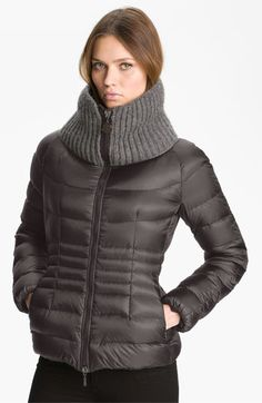 $1,200 Moncler 'Peliade' Knit Collar Down Jacket available at #Nordstrom