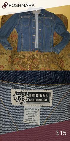 ROUTE 66 Jean jacket Route 66 blue jeans jacket Route 66 Jackets & Coats Jean Jackets