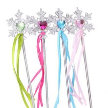 Snowflake Ribbon Wands Fairy Magic Wand Sticks Kids Girls Princess Cosplay Props Christmas Party Supplies Party Favors(China (Mainland))