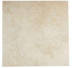 castle travertine cream ceramic wall floor tile pack of 5 l450mm w450mm - Mirror Tile Castle Ideas